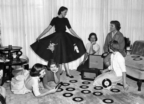Teen Girls at a Record Party