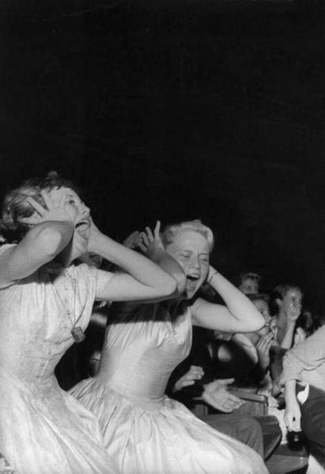 Teenagers at an Elvis concert