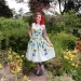 Vintage Long Stem Roses Dress by Roy H. Bjorkman